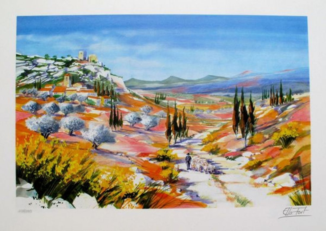 ELLA FORT LANDSCAPE IN PROVENCE VALLEY FRANCE LIMITED