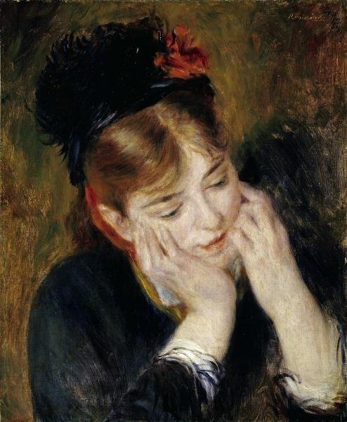 PIERRE AUGUSTE RENOIR - CONTEMPLATION