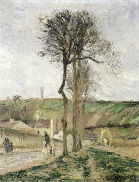 CAMILLE PISSARRO - ROUTE D'ENNERY A L'HERMITAGE,