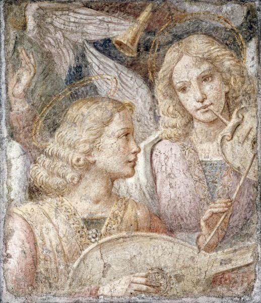 BERNARDINO LUINI - MUSIC MAKING ANGELS - A FRAGMENT