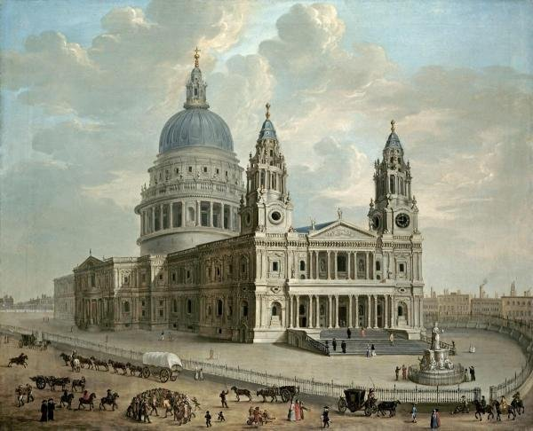 ENGLISH SCHOOL - VIEW OF ST. PAUL'S CATHEDRAL