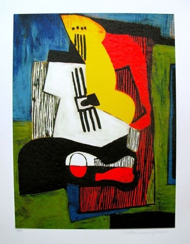 #28 STILL LIFE WITH GUITAR PICASSO ESTATE SIGNED GICLÉE