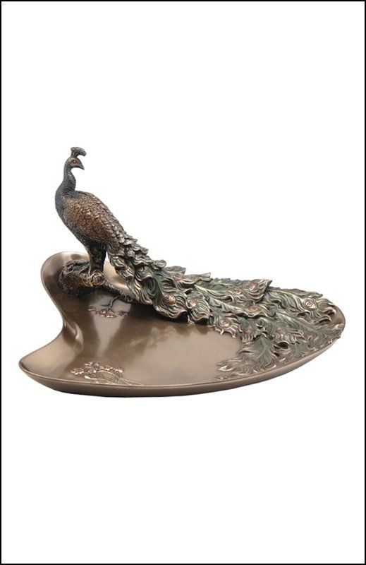 PLUM & PEACOCK TRAY - BRONZE