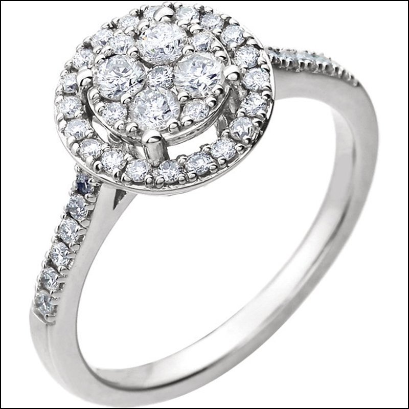 DIAMOND HALO-STYLED ENGAGEMENT RING