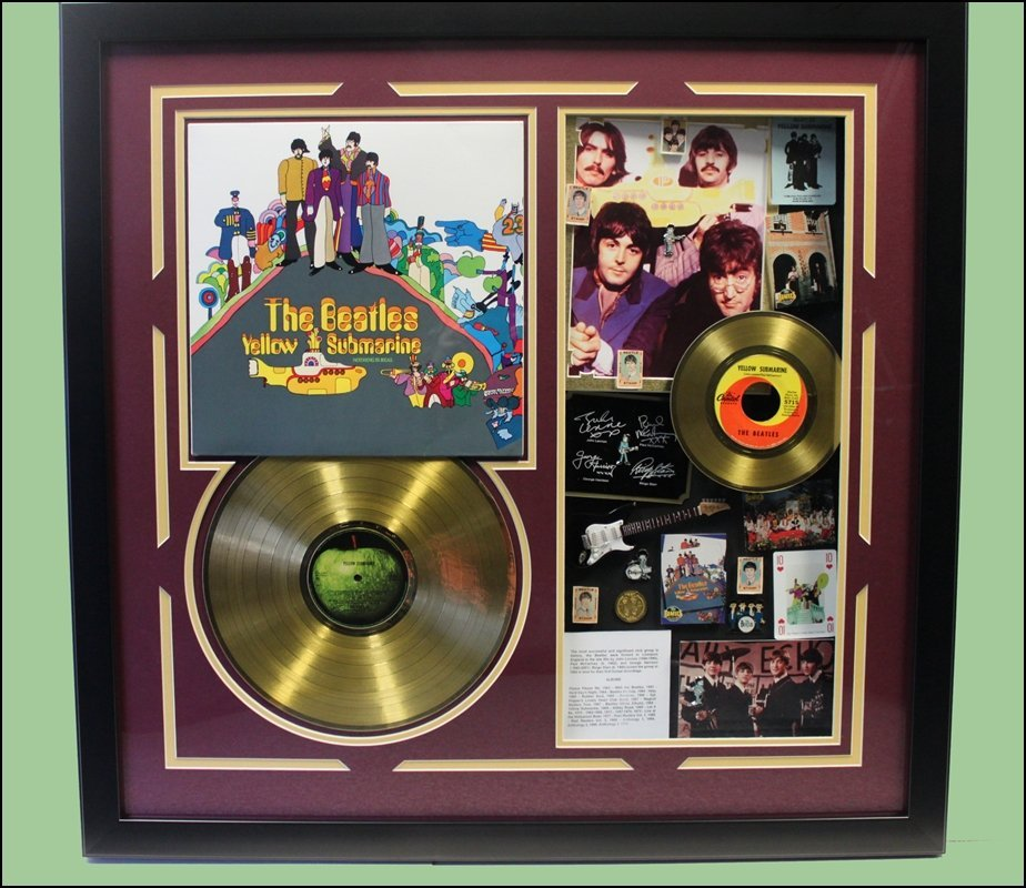 Beatles Yellow Submarine - LP / 45 Collage - One Of A