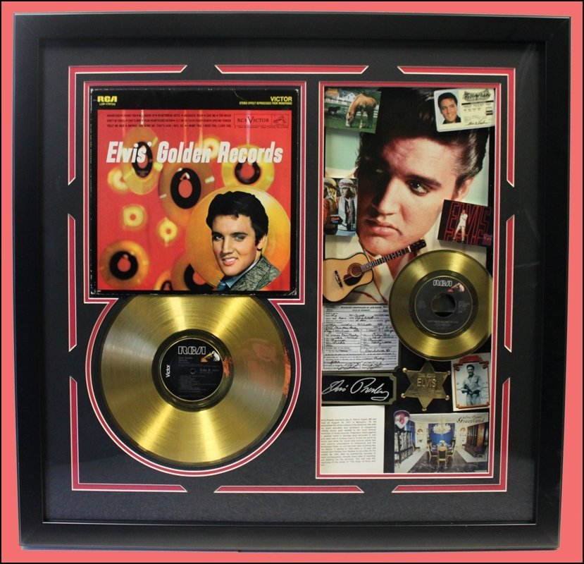 Elvis Golden Records Memorabilia Collage