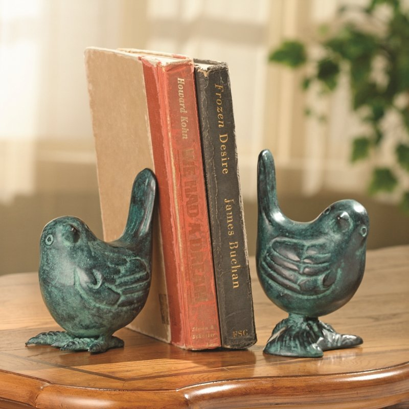 BIRD ON BRANCH BOOKENDS PR