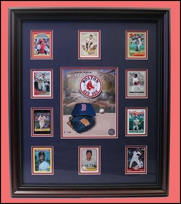 Boston Red Sox Baseball 10-Card Collage - Collector