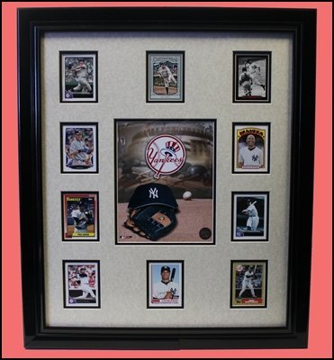 New York Yankees Baseball Card Collage - Collector