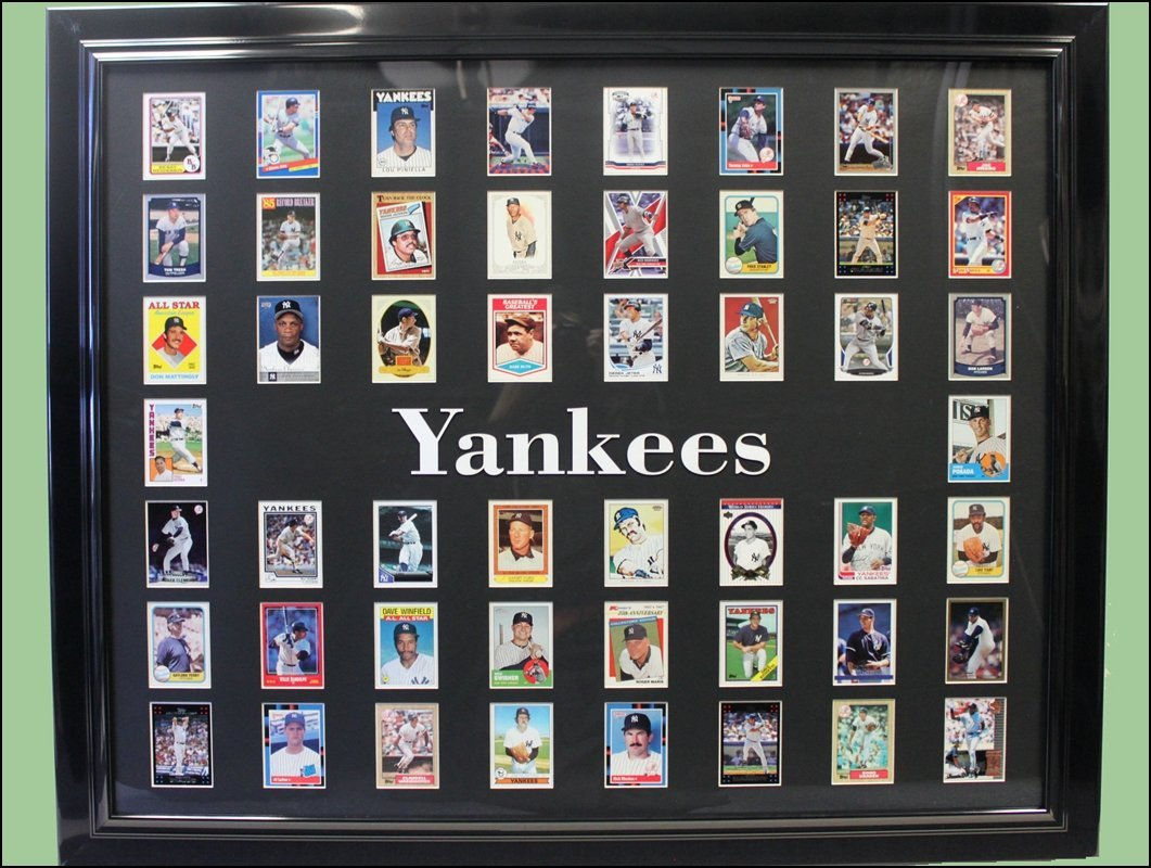 NY Yankees Baseball Card Collage - Collector Edition