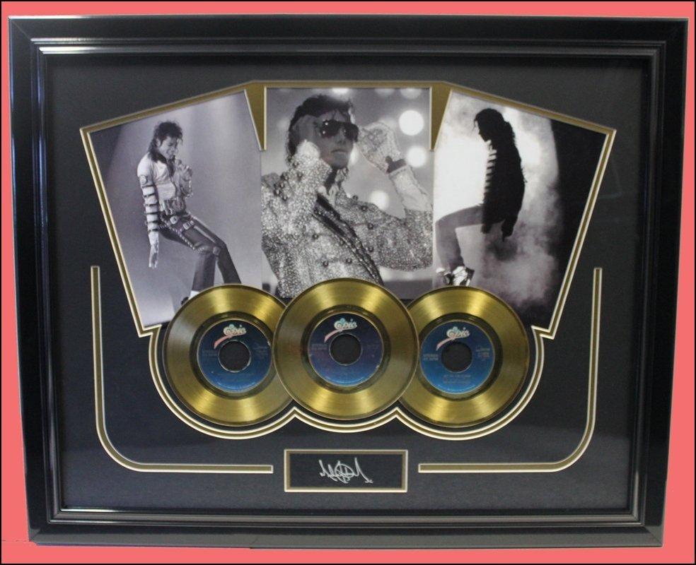 Michael Jackson - Golden Record Collage