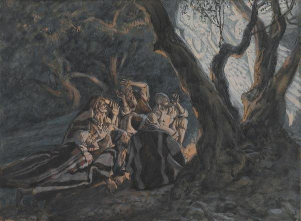 JAMES TISSOT - THE ANGEL AND THE SHEPHERDS, THE LIFE OF