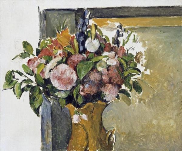 PAUL CEZANNE - FLOWERS IN A VASE