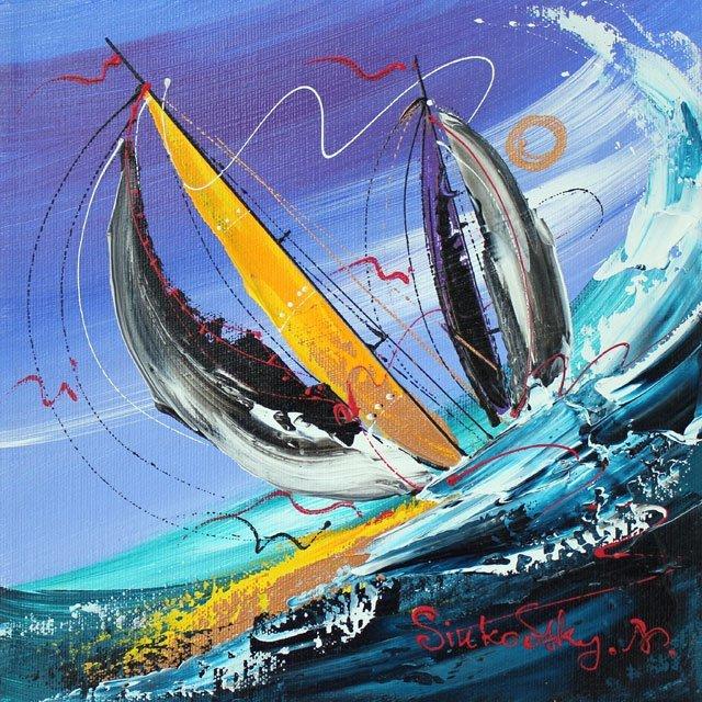 ORIGINAL NATALIA SINKOWSKY-THROUGH THE CURLING WAVE