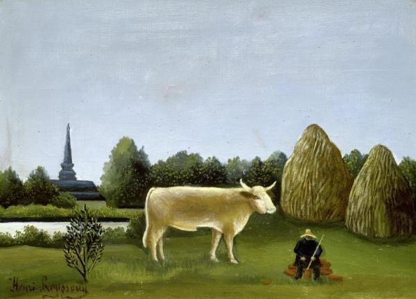 HENRI ROUSSEAU - VIEW SURROUNDING PARIS