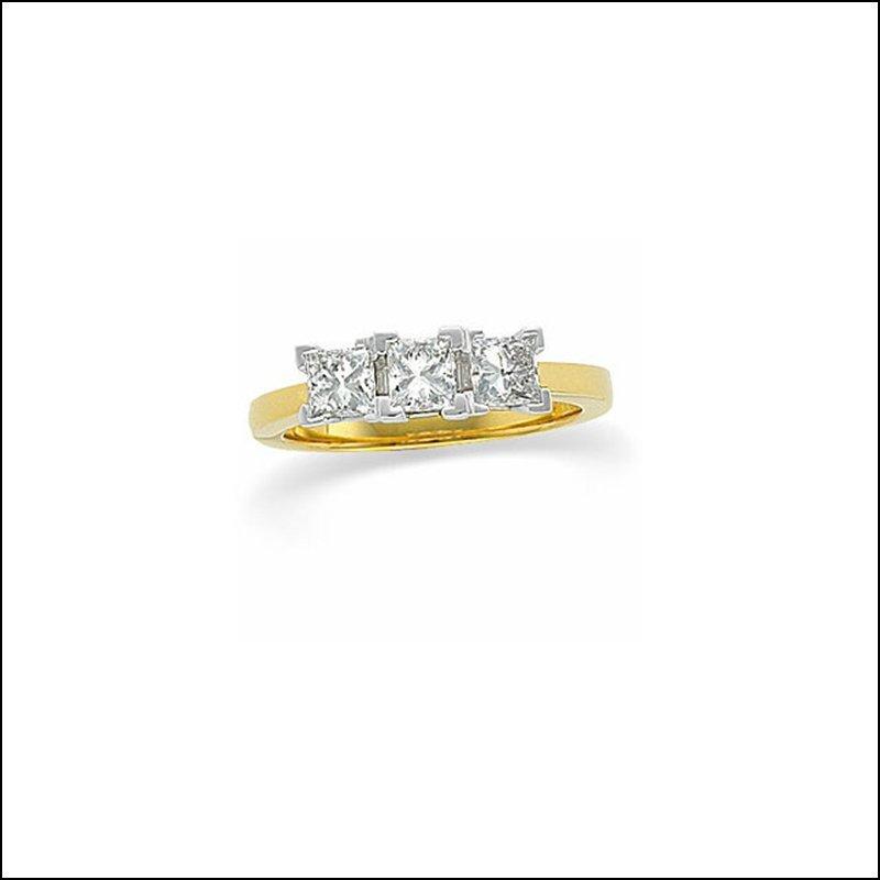 3-STONE DIAMOND ANNIVERSARY RING