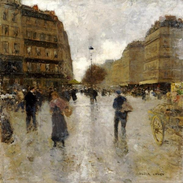 LUIGI LOIR - PARISIAN STREET SCENE