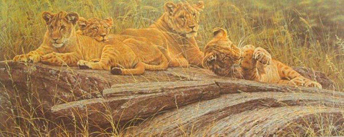 ALAN HUNT FUTURE LION KINGS LIMITED ED. HAND SIGNED