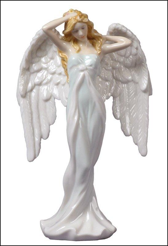 GUARDIAN ANGEL   ANGEL STROKING HER HAIR (LIGHT GREEN)