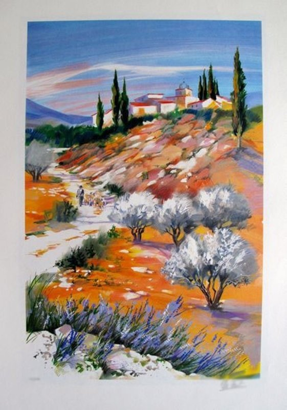 ELLA FORT LANDCAPE IN PROVENCE VALLEY 1 LIMITED ED.
