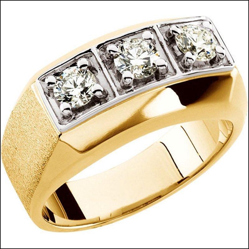 1 CT TW GENTS DIAMOND RING