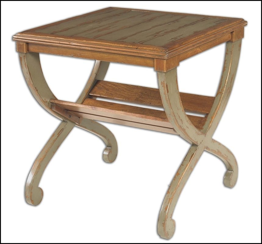 RONICA SOLID WOOD ACCENT TABLE