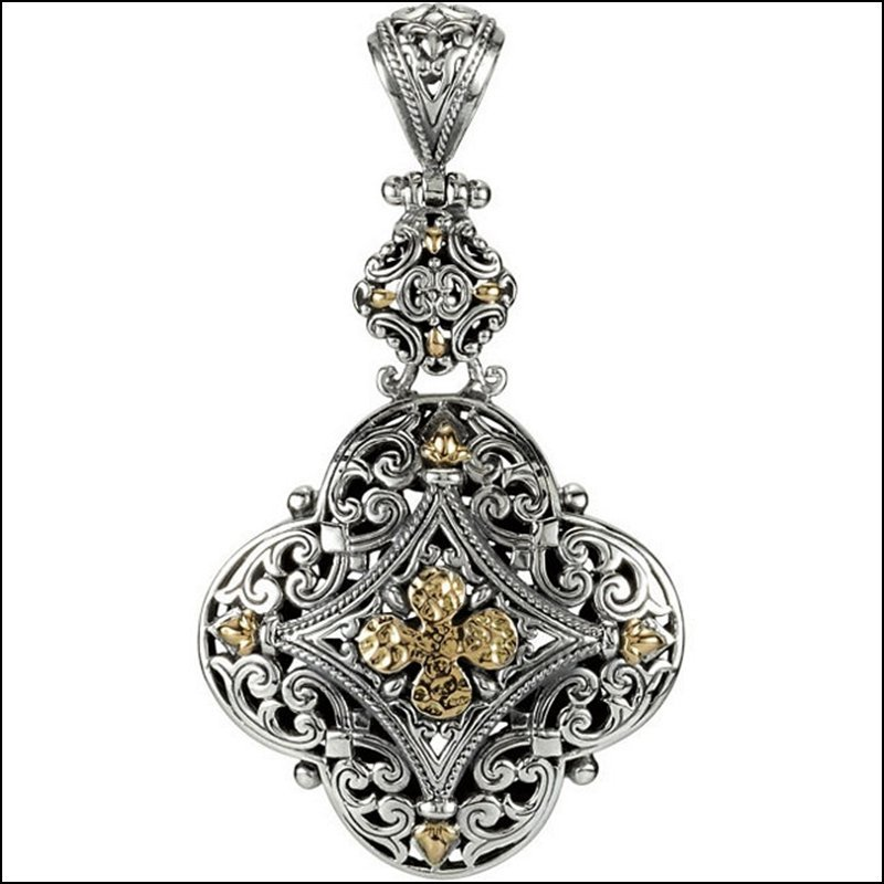 TWO-TONE DESIGN FASHION PENDANT ENHANCER