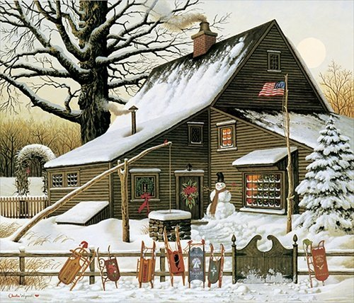 Charles Wysocki  - COCOA BREAK AT THE COPPERFIELDS,