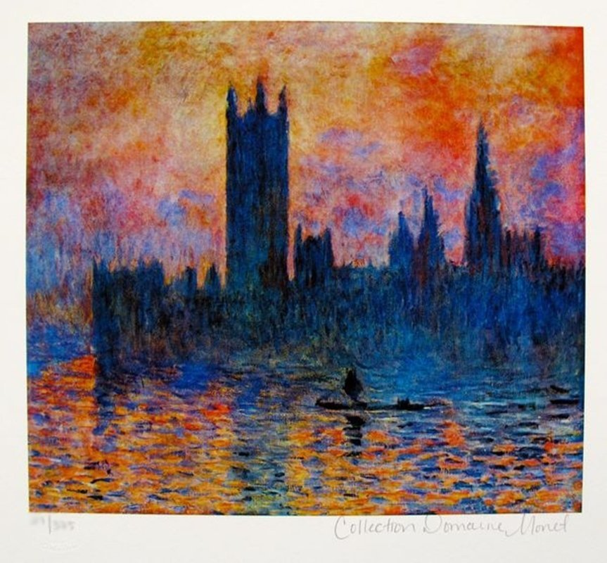 CLAUDE MONET HOUSES OF PARLIAMENT ESTATE SIGNED &