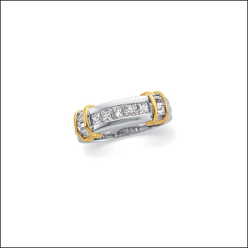 3/4 CT TW DIAMOND TWO TONE WEDDING BAND
