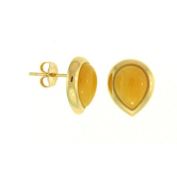 NATURAL YELLOW JADE EARRINGS