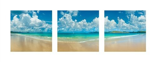 Aqua Blue Triptych by Doug Cavanah