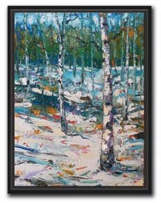 Jeff Boutin - Blue Winter 19x25