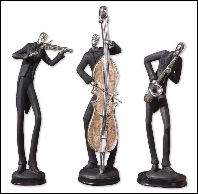 MUSICIANS DECORATIVE FIGURINES, SET/3