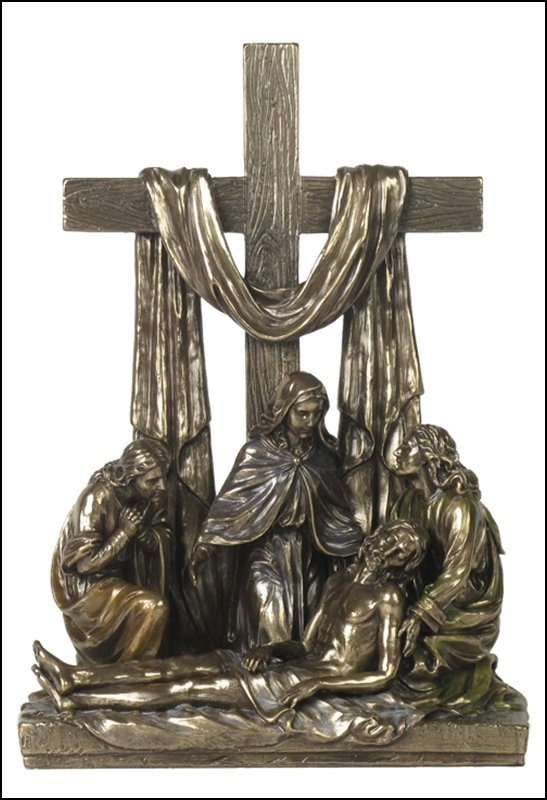 DESCENT FROM THE CROSS IN CALVARY - COLD CAST BRONZE