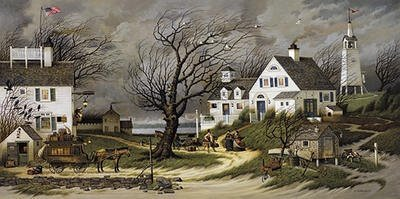 Charles Wysocki  - CHECKING IN ON OLDE MARTHA'S