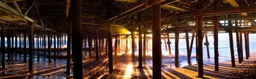 Sean Davey  - What Lies Beneath Santa Monica Pier by