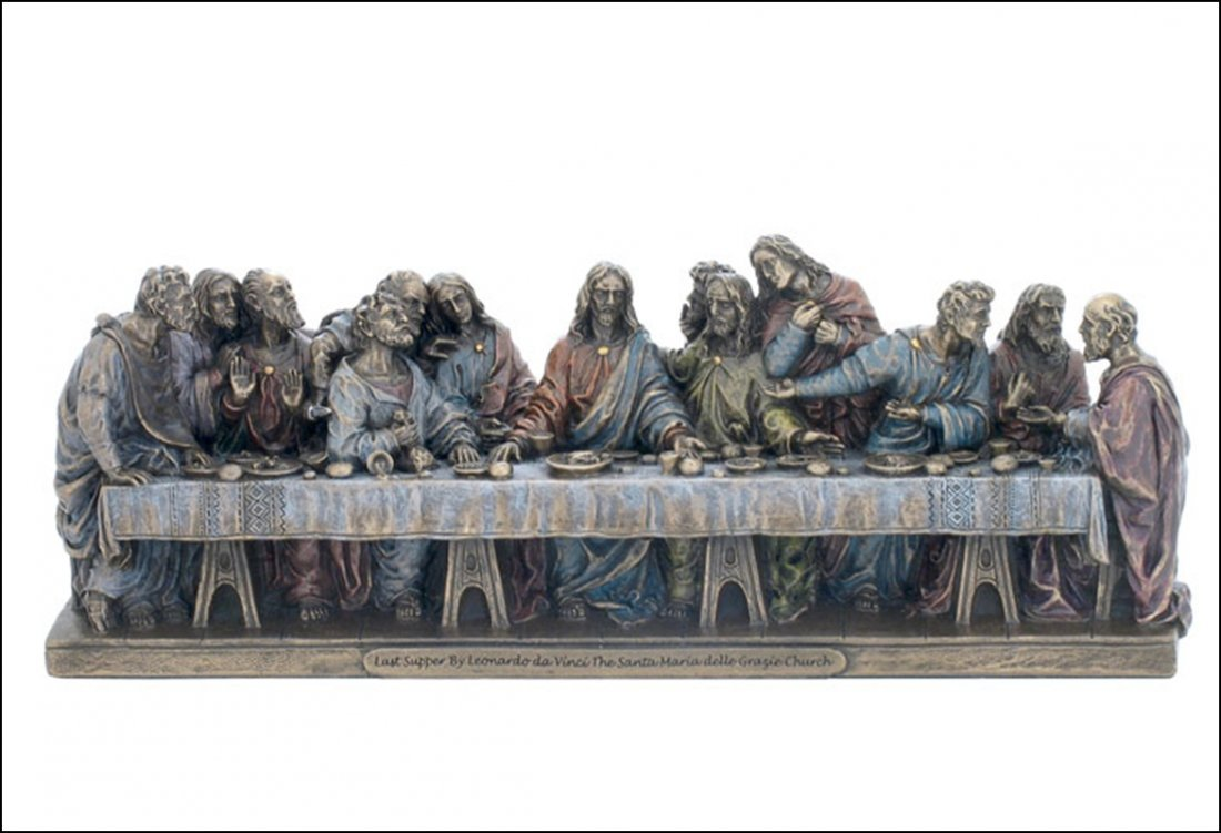 THE LAST SUPPER  - COLD CAST BRONZE