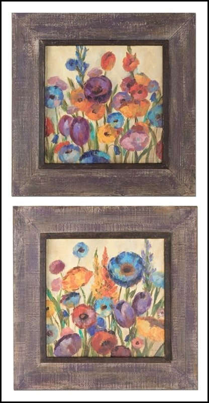 GARDEN HUES FRAMED ART, S/2