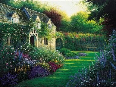 Charles White  - COTTAGE GARDEN, THE CANVAS ARTIST