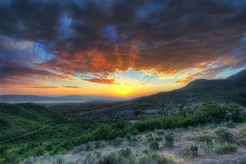 Sean McGrath  - Squaw Peak Sunset Provo UT by Sean