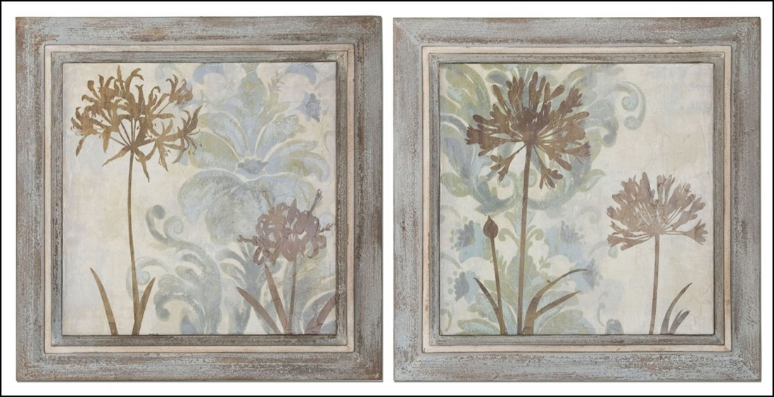 FLORAL OASIS WALL ART, S/2