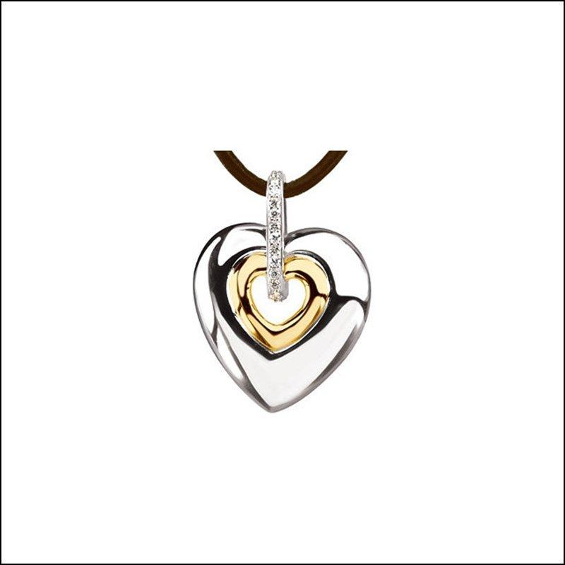 .07 CT TW DIAMOND HEART NECKLACE