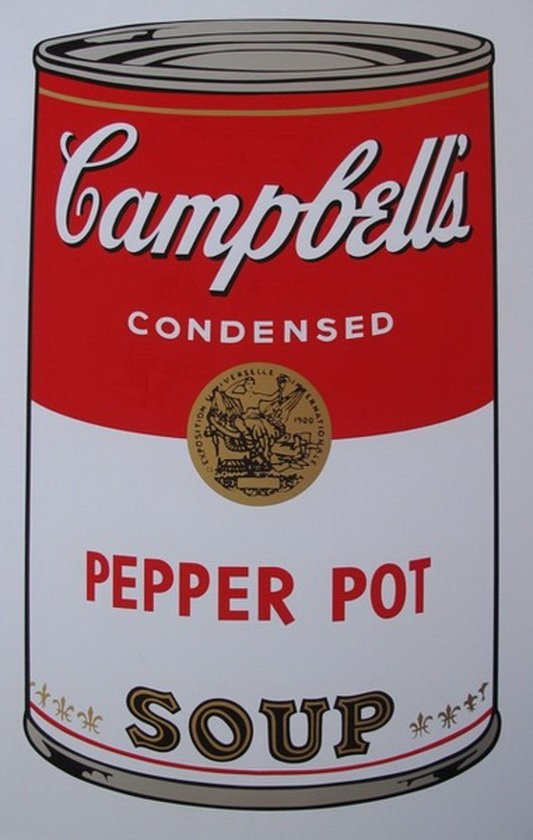 ANDY WARHOL  SUNDAY B. MORNING  PEPPER POT SOUP CAN