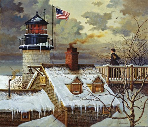 Charles Wysocki  - I HOPE YOUR SEAS ARE CALM, CANVAS