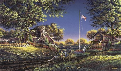 Terry Redlin  - GOOD MORNING AMERICA-REDLIN