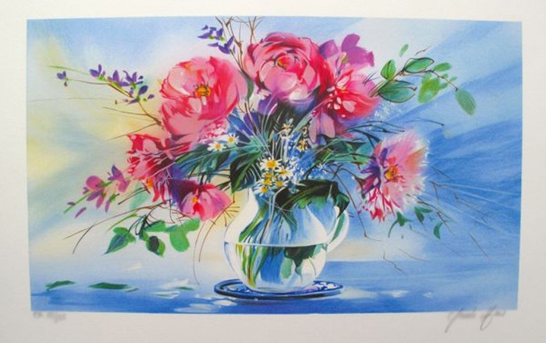CLAUDE MARS SPRING BOUQUET III HAND SIGNED LIMITED ED.