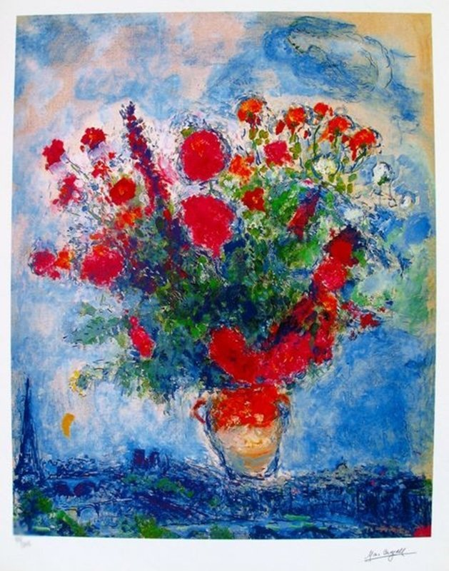 MARC CHAGALL BOUQUET OVER PARIS LIMITED ED. SMALL