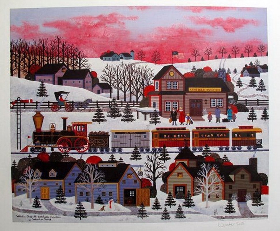 JANE WOOSTER SCOTT WHISTLE STOP AT ASHFIELD HAND SIGNED