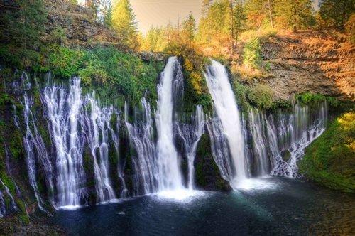 Sean Davey  - Burney Falls CA by Sean Davey